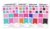 Glam Glitter Summer Flags Planner Stickers