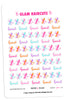 Glam Haircuts Digital Planner Stickers