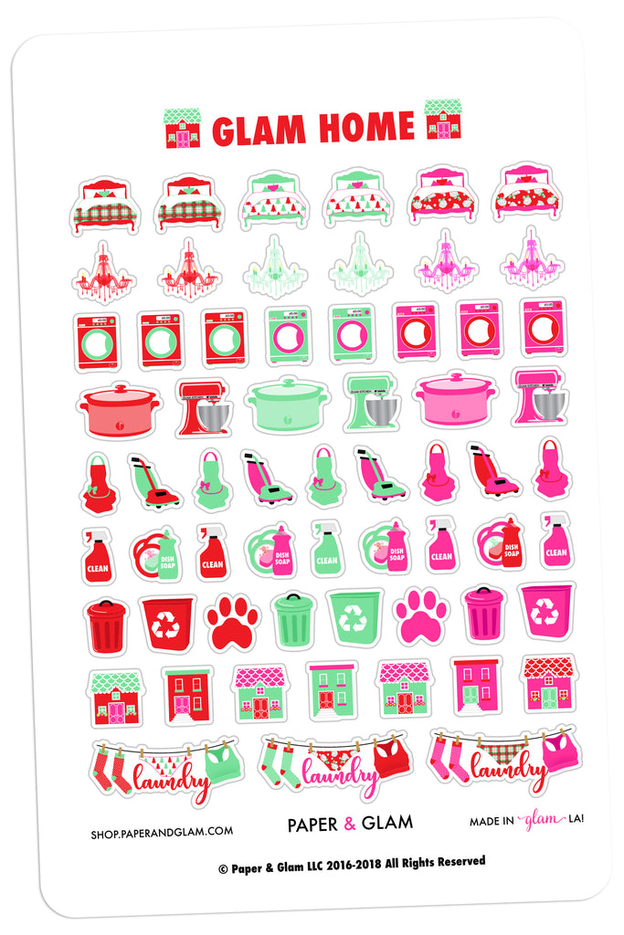 Glam Home December Planner Stickers