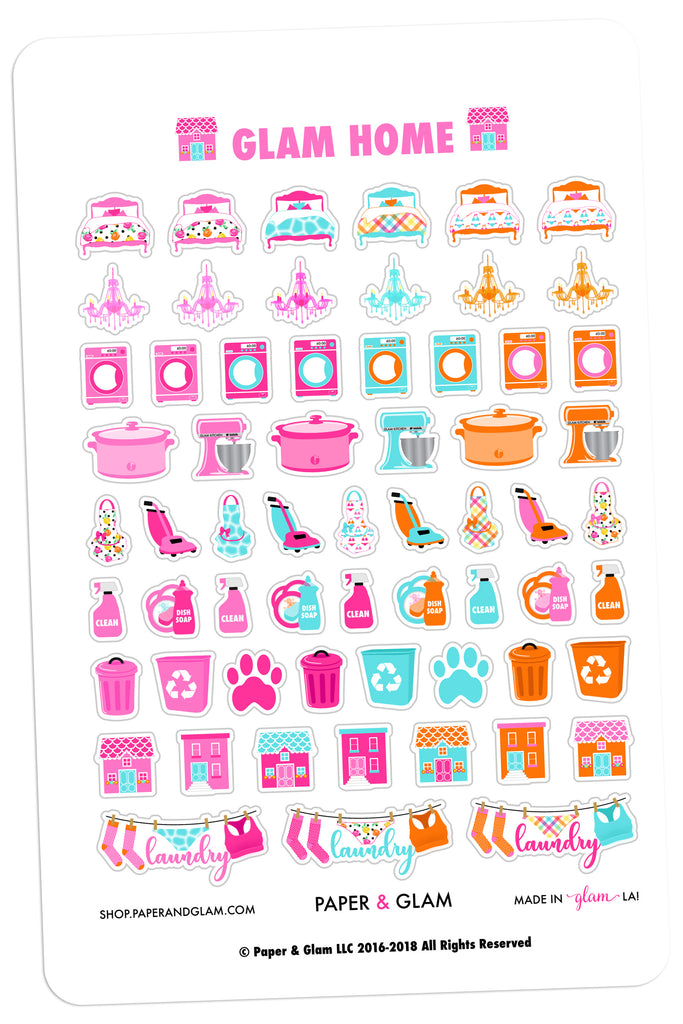 Glam Home June Planner Stickers