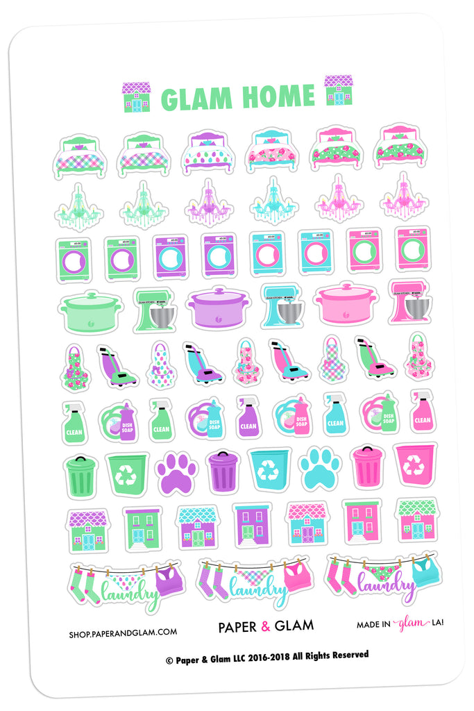 Glam Home March Planner Stickers