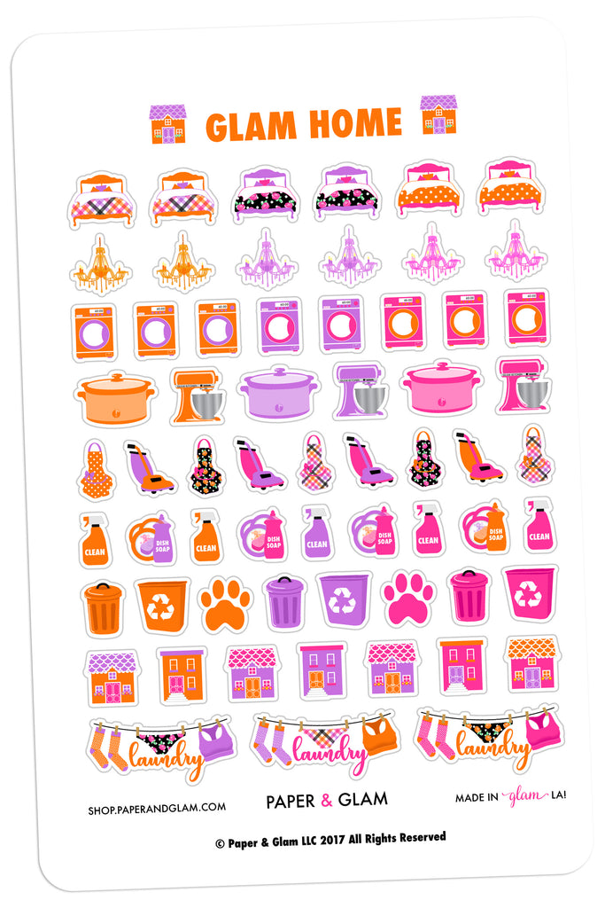 Glam Home October Planner Stickers