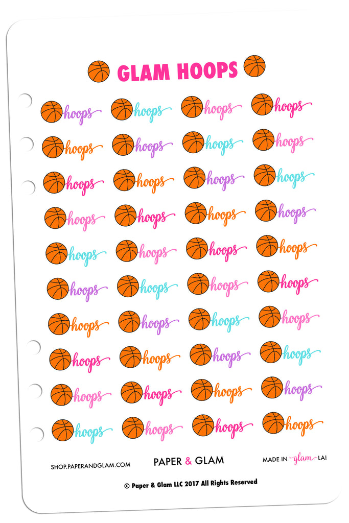 Glam Hoops Digital Planner Stickers