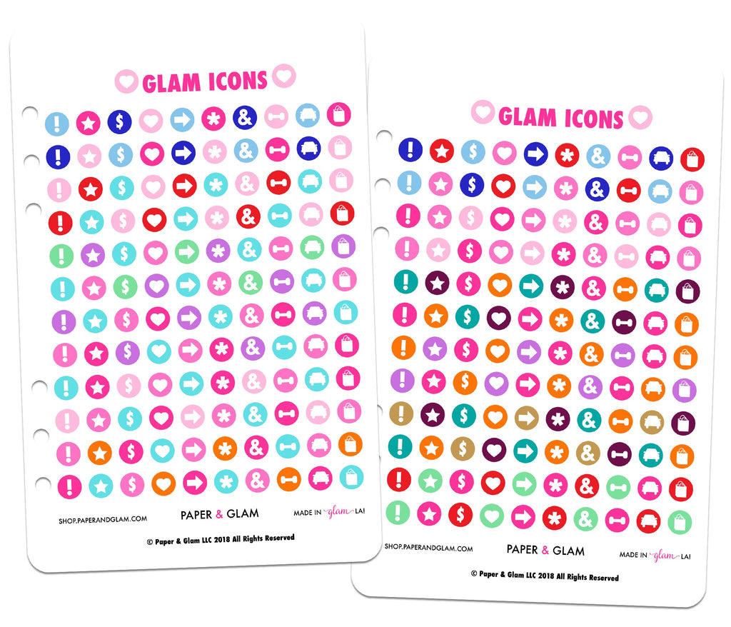 Glam Icons Digital Planner Stickers