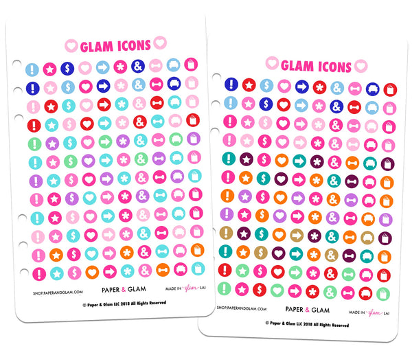 Glam Icons Planner Stickers