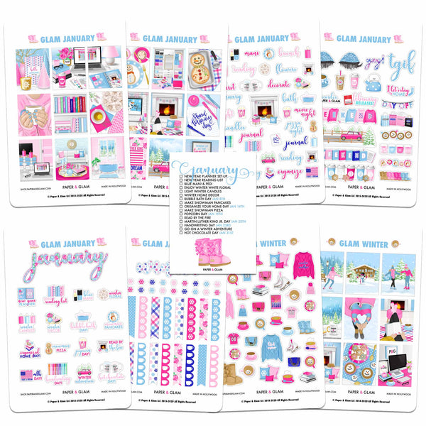 Glam January Planner Kit