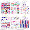 Glam July Digital Planner Stickers
