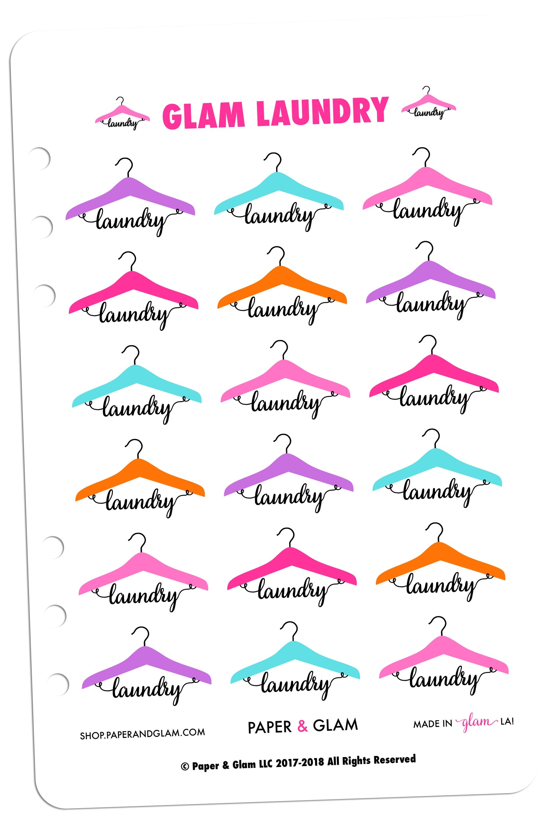 Glam laundry digital planner stickers tap to expand