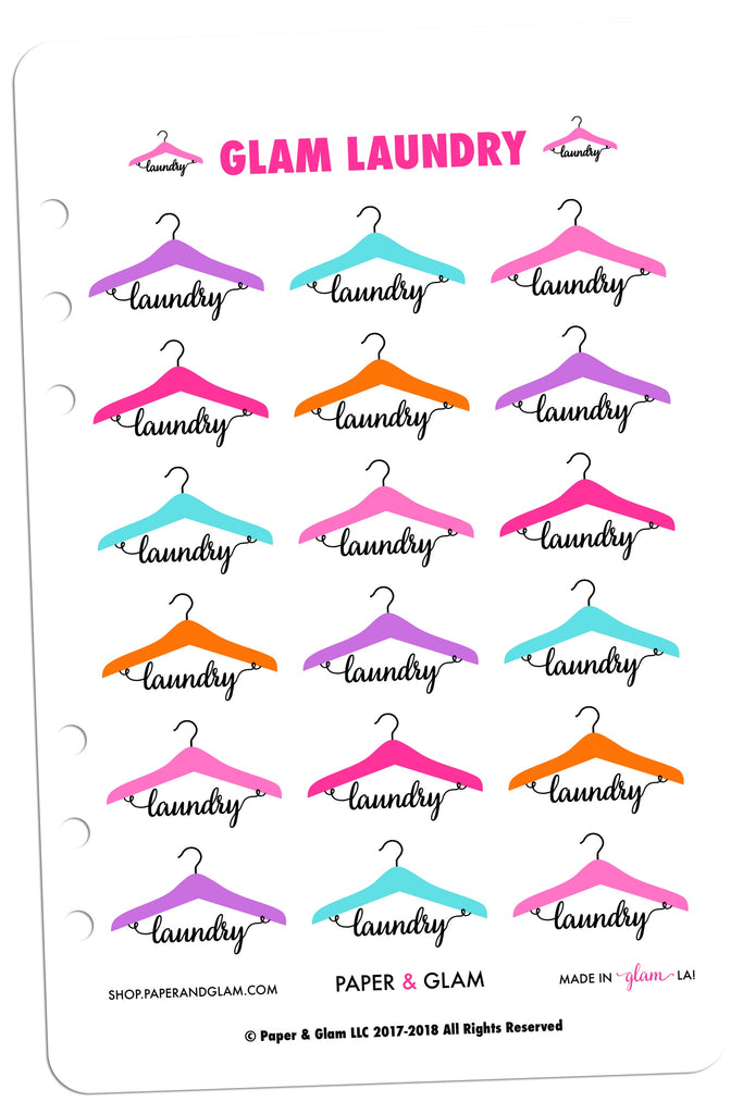 Glam Laundry Planner Stickers