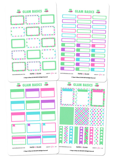 Glam Basics March Digital Planner Stickers