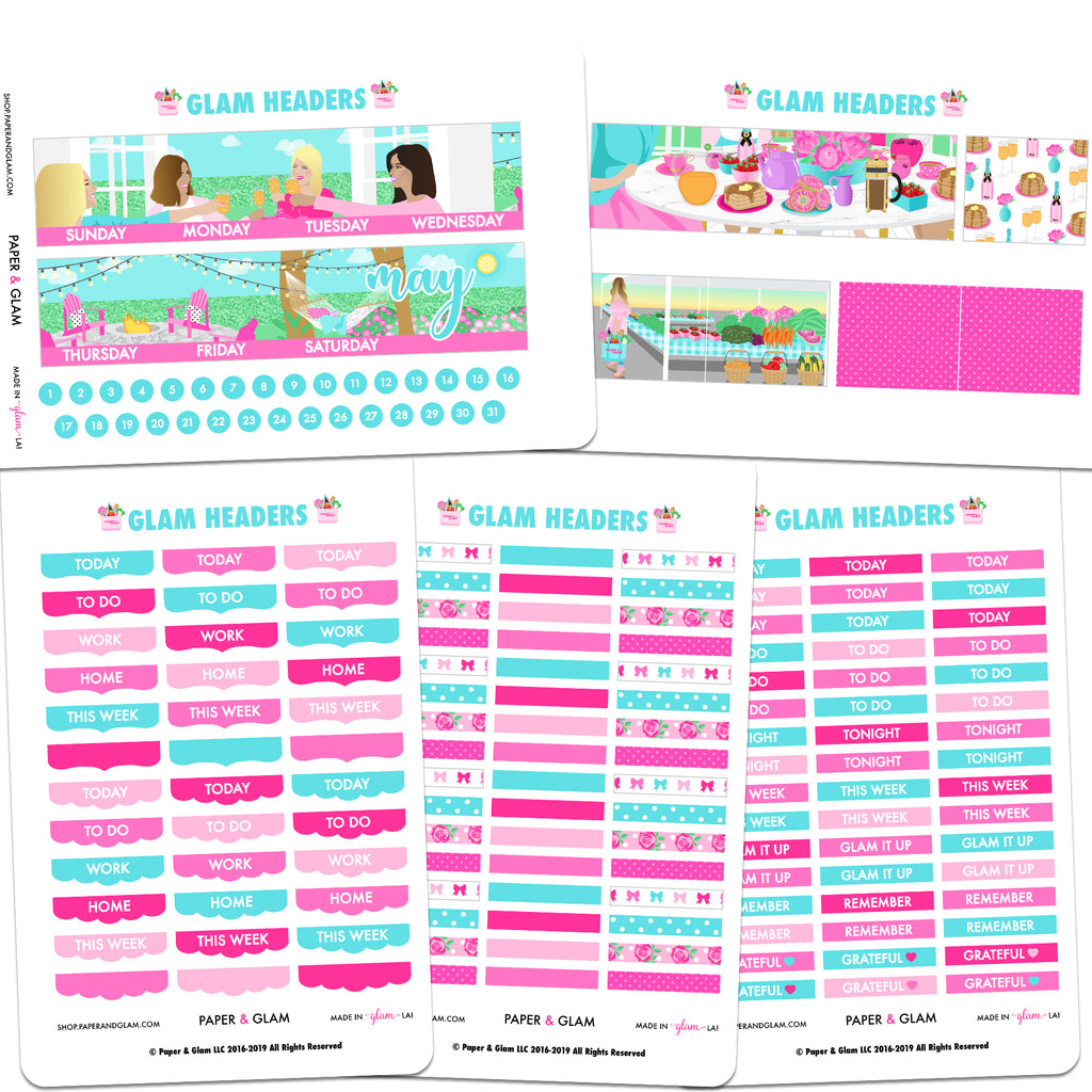 Glam May Headers Planner Sticker
