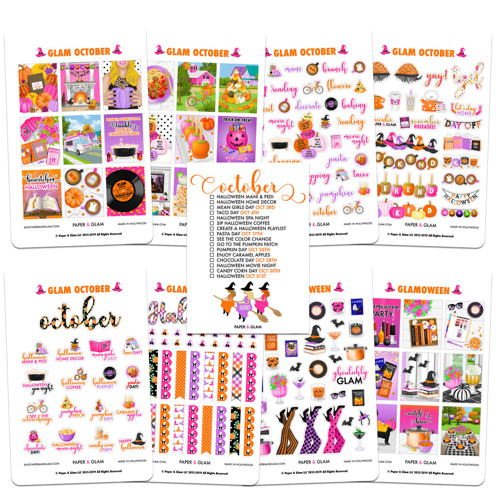 Glam October Planner Kit