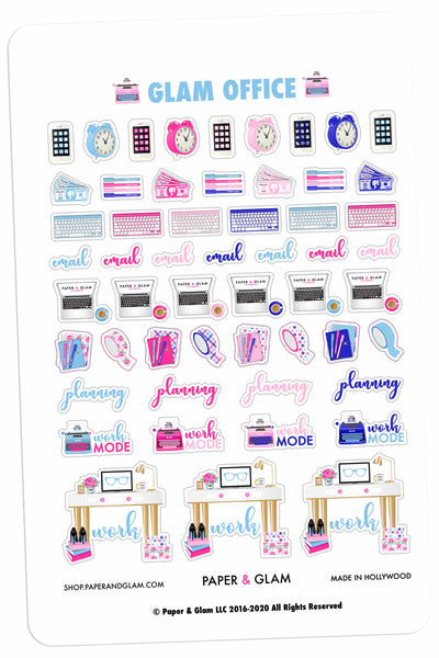 Glam Office January Planner Stickers