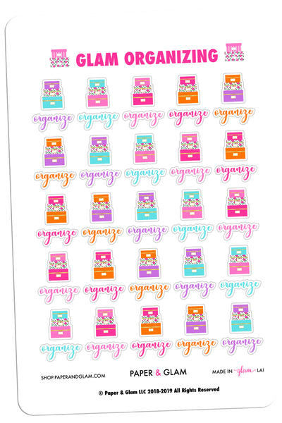 Glam Organizing Planner Stickers