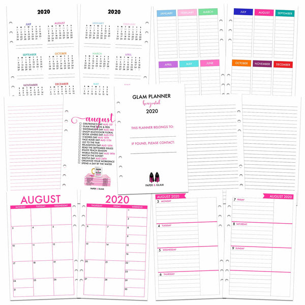 Glam Planner® Horizontal Inserts