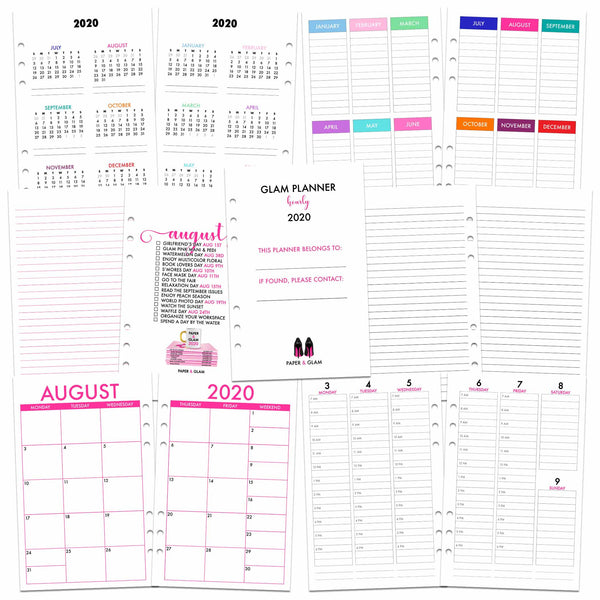 Glam Planner® Hourly Inserts
