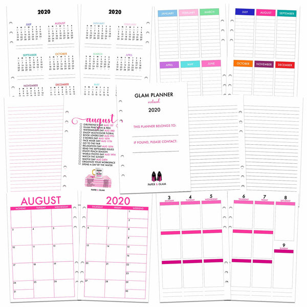 Glam Planner® Vertical Inserts