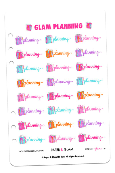 Glam Planning Planner Stickers