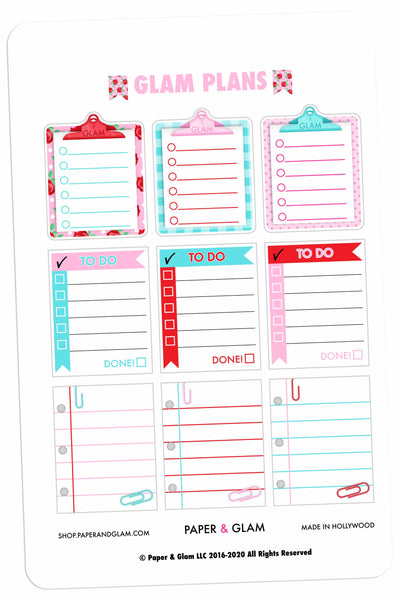 Glam Plans February Planner Stickers