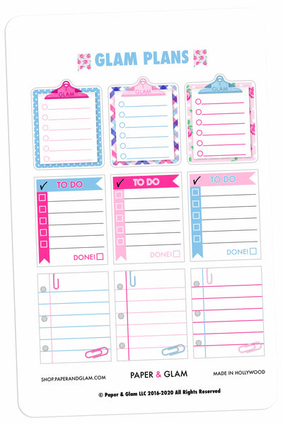 Glam Plans January Planner Stickers