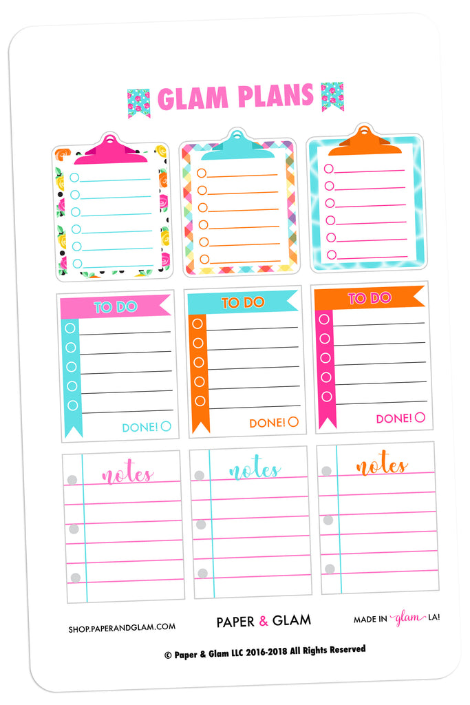 Glam Plans June Planner Stickers