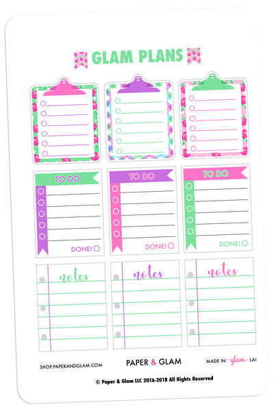 Glam Plans March Planner Stickers