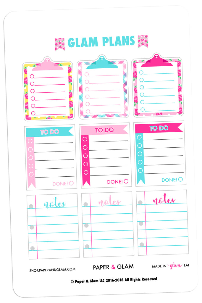 Glam Plans May Planner Stickers