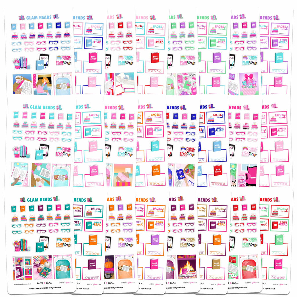 Glam Reads 365 Planner Stickers