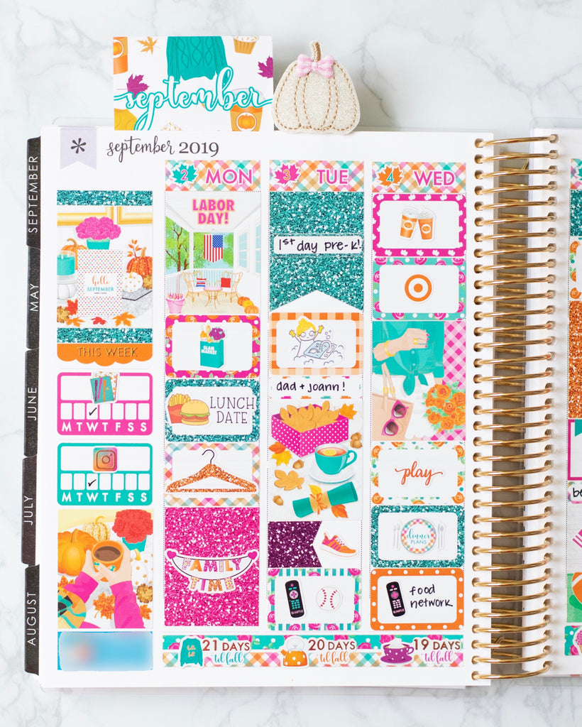 Glam September Planner Kit
