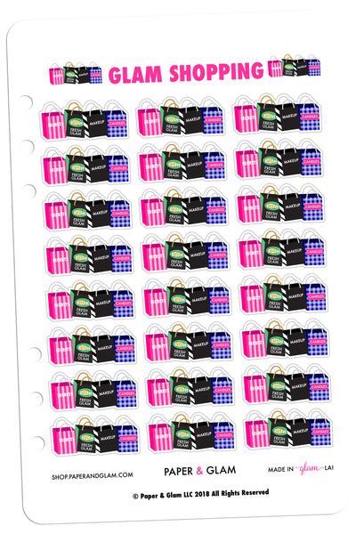 Glam Shopping Planner Stickers