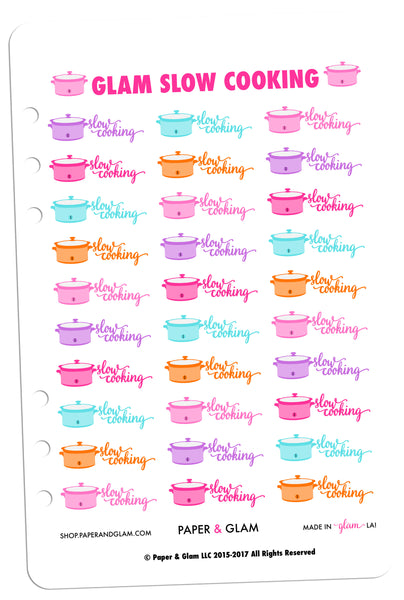 Glam Slow Cooking Planner Stickers