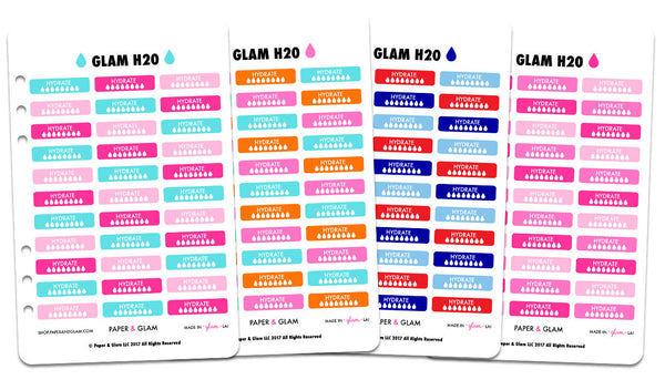Glam Summer h2o Planner Stickers