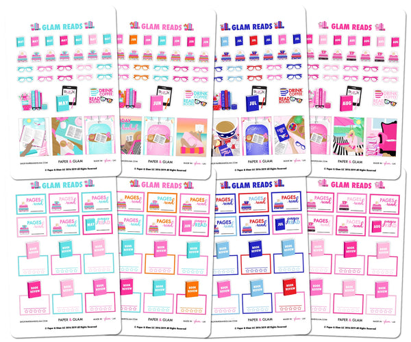 Glam Summer Reads Planner Stickers