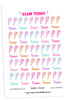 Glam Tennis Planner Stickers