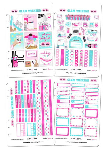 Glam Weekend Weekly Planner Kit by Paper & Glam