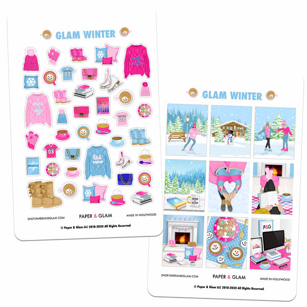 Glam Winter Planner Stickers