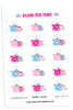 Glam Tea Time Digital Planner Stickers