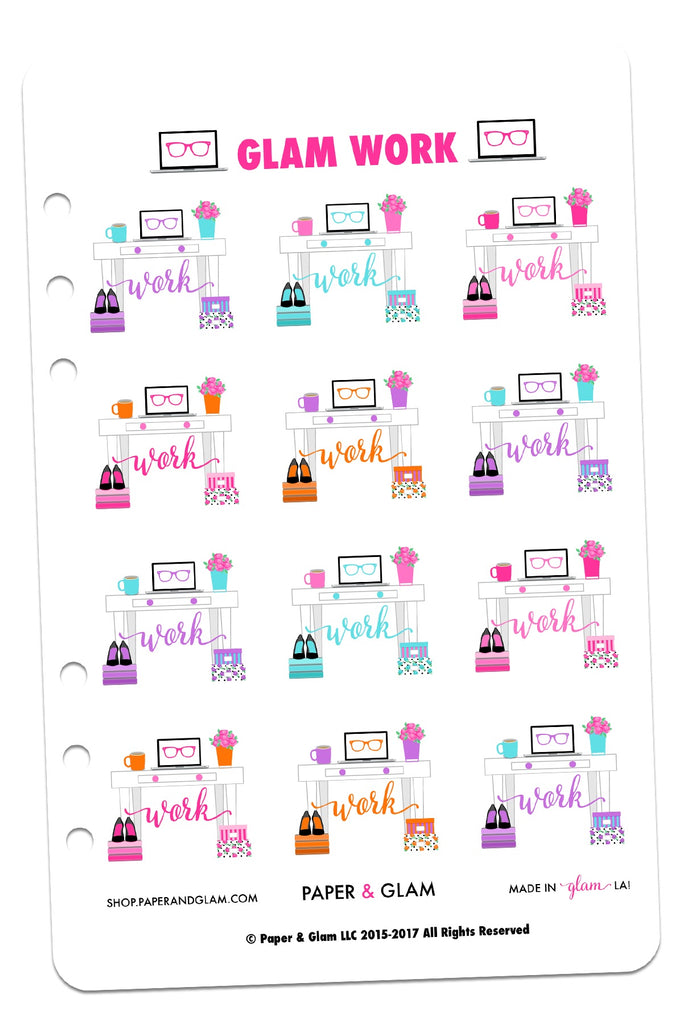 Glam Work Digital Planner Stickers