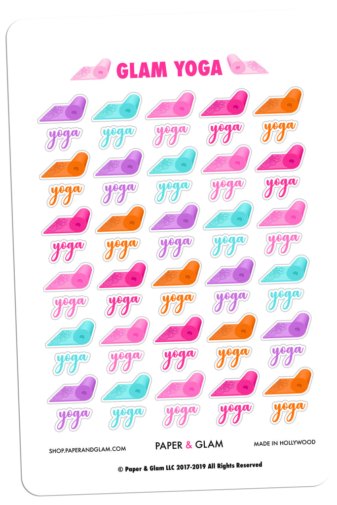 Glam Yoga Digital Planner Stickers