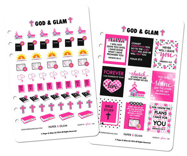 God & Glam® Digital Planner Stickers