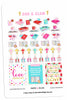 Gold Foil God & Glam® Valentine Planner Stickers