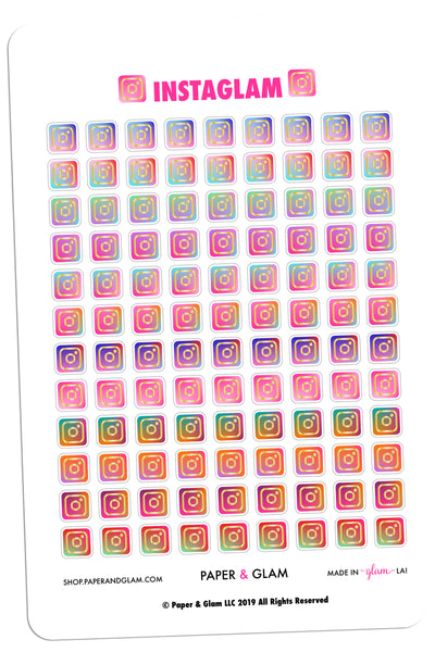 Gold Foil Instaglam Planner Stickers
