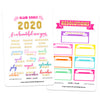 Gold Foil Glam Goals Planner Stickers