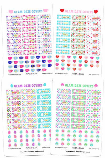 GOLD FOIL Winter & Spring Date Cover Planner Stickers PRE-ORDER