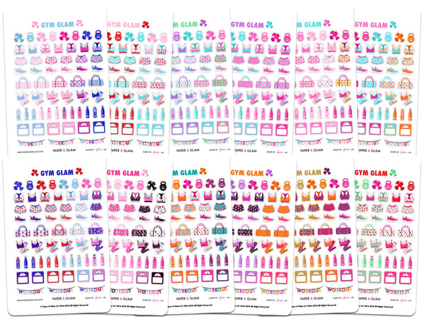 Gym Glam 365 Planner Stickers