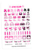 Gym Glam August Planner Stickers