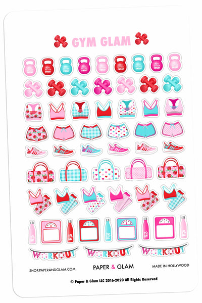 Gym Glam February Planner Stickers