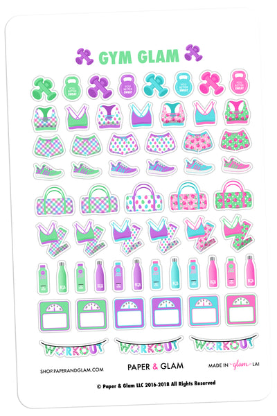 Gym Glam March Planner Stickers