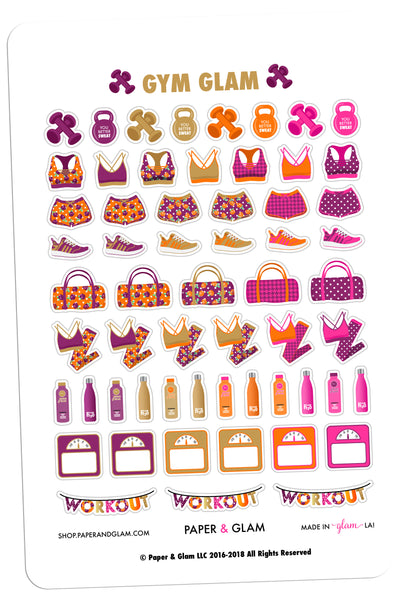 Gym Glam November Planner Stickers