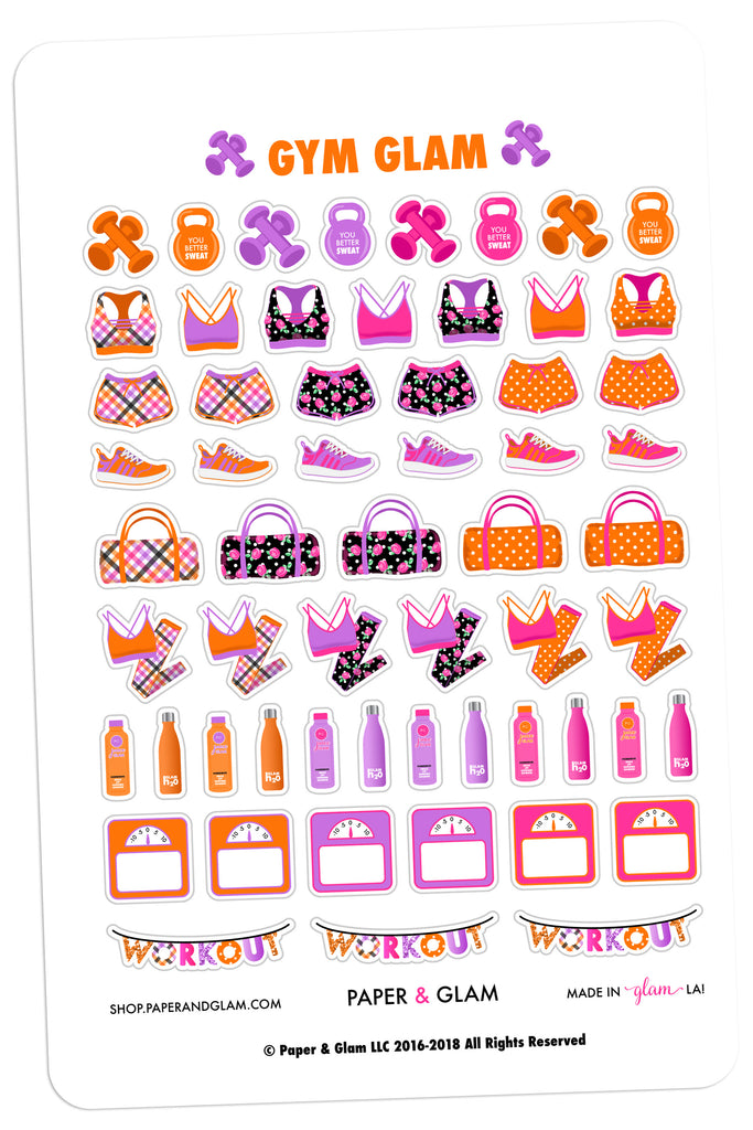 Gym Glam October Planner Stickers